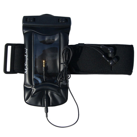 iPhone Waterproof Bag and Headphones